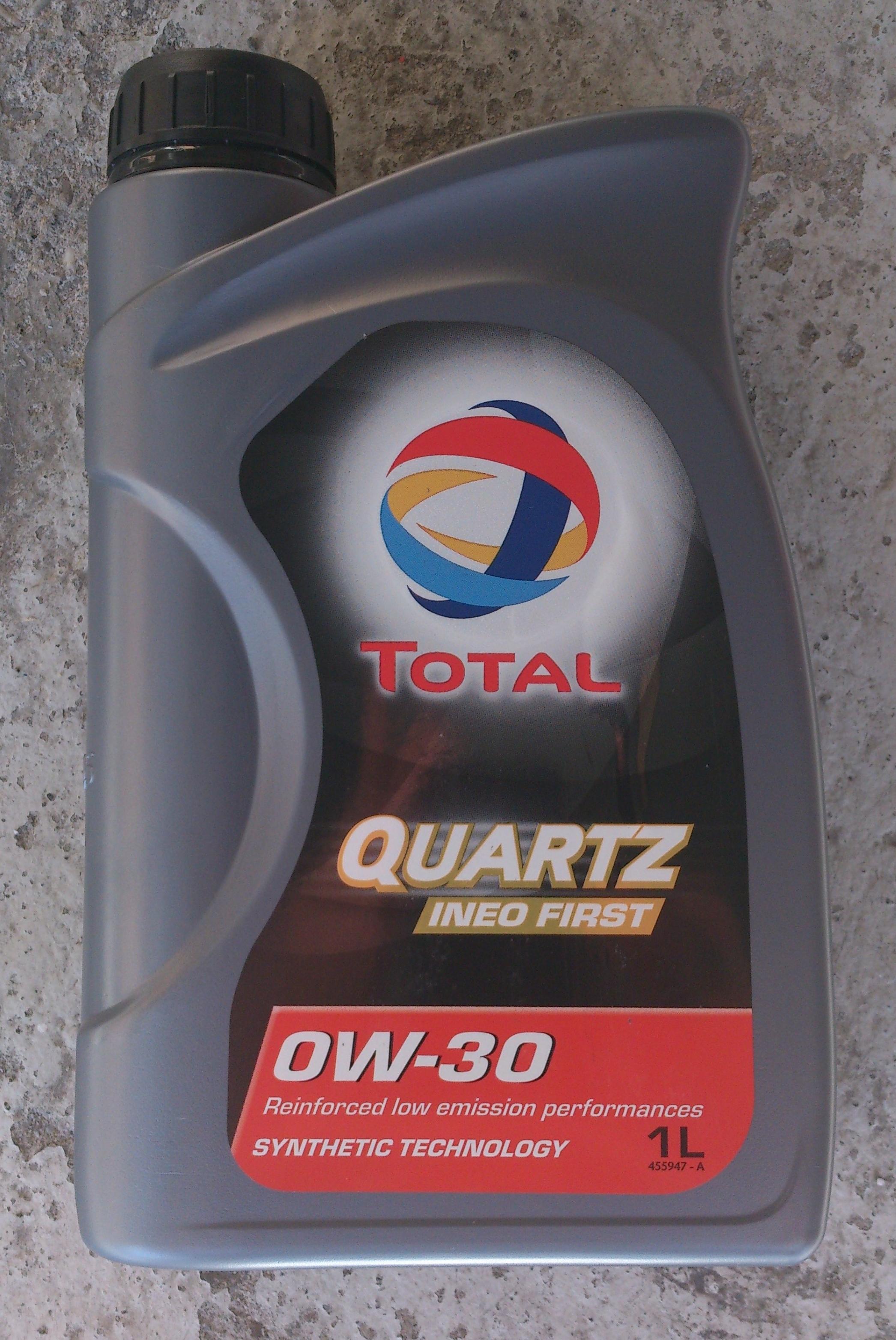 Motoren l getriebe l fette total quartz ineo first 0w 30 for Total quartz motor oil